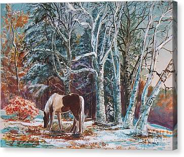 First Snow Canvas Print by Joy Nichols