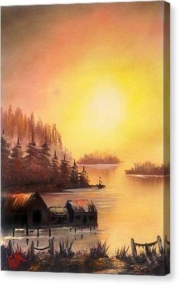 Fisherman's Retreat. Canvas Print by Fineartist Ellen