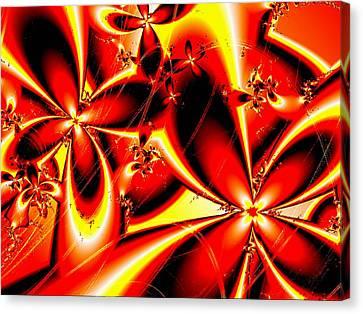 Flaming Red Flowers Canvas Print by Anastasiya Malakhova