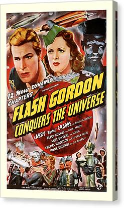 Flash Gordon Conquers The Universe 1940 Canvas Print by Presented By American Classic Art