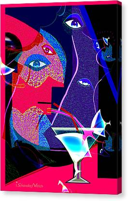 Fractal Fatal 264 Canvas Print by Irmgard Schoendorf Welch