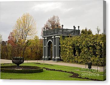 Canvas Print featuring the photograph  Garden Gate Schonbrunn Palace Vienna Austria by Imran Ahmed