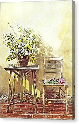 Gardener's Corner Canvas Print by David Lloyd Glover