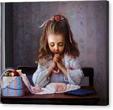 Girl's Prayer Canvas Print