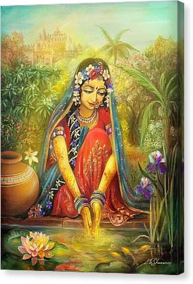 'gold' Radha Canvas Print by Lila Shravani