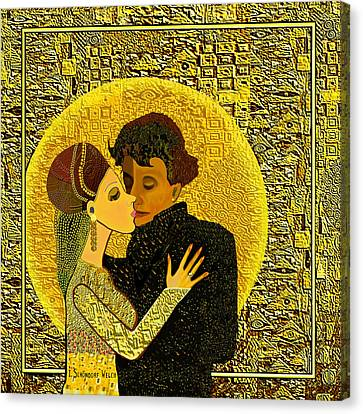 Golden Dancing - 325 Canvas Print by Irmgard Schoendorf Welch