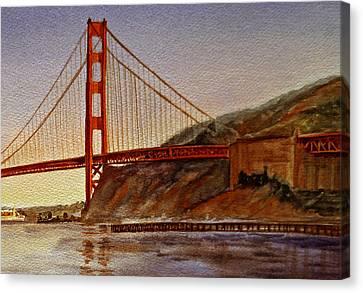Golden Gate Bridge San Francisco California Canvas Print by Irina Sztukowski