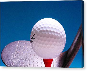 Golf Ball Canvas Print -  Golf by David and Carol Kelly