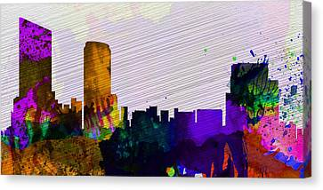 Grand Rapids City Skyline Canvas Print by Naxart Studio