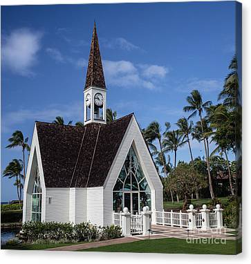 Grand Wailea Hawaiian Resort Wedding Chapel On Maui Canvas Print by Edward Fielding