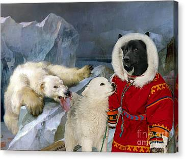 Greenland Dog Art Canvas Print Canvas Print by Sandra Sij