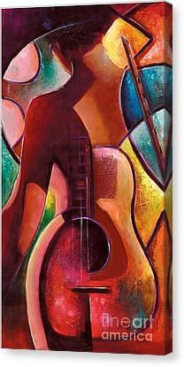 Guitar Lady  Canvas Print