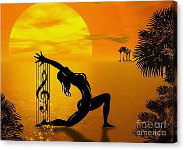 Harpist Canvas Print by Andrzej Szczerski