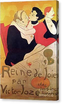 Henri De Toulouse Lautrec 1864 1901 French Painter Reine De Joie 1892 Canvas Print by Anonymous