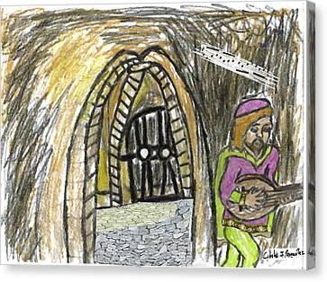 Hidden Lutist Canvas Print