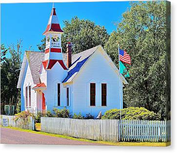 Historic Oysterville Church Canvas Print