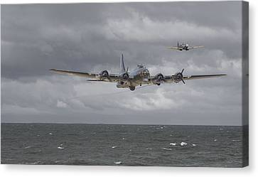 B17 Canvas Print -  Home The Hard Way by Pat Speirs