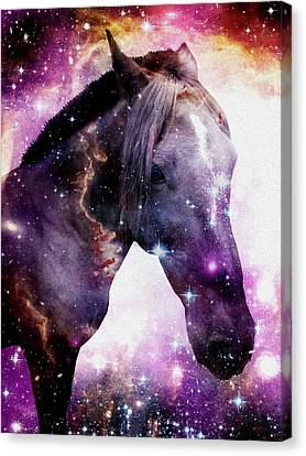 Black People Canvas Print -  Horse In The Small Magellanic Cloud by Anastasiya Malakhova