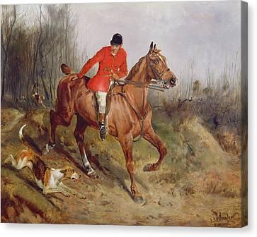 Hunting Scene Canvas Print by John Alfred  Wheeler