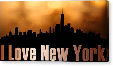 I Love New York Canvas Print by Tommytechno Sweden
