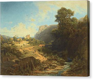 Italian Landscape Canvas Print by Celestial Images