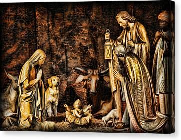 Gospel Of Matthew Canvas Print -  Jesus Had A Labrador by Lee Dos Santos