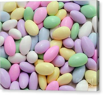 Jordan Almonds - Weddings - Candy Shop Canvas Print by Andee Design