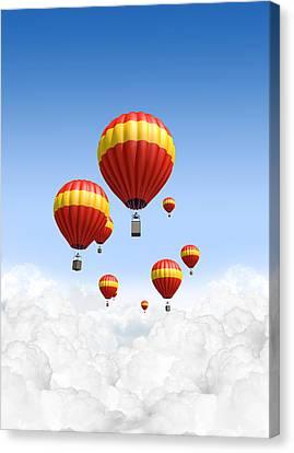 Joy Above The Clouds Canvas Print