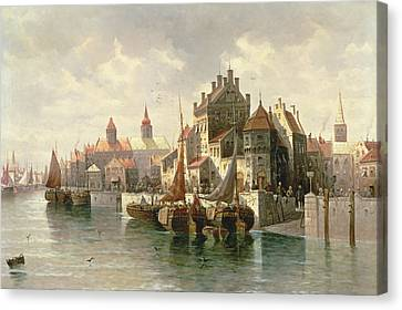 Kieler Canal Canvas Print by August Siegen