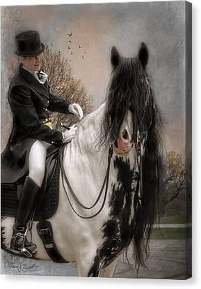 Drum Horse Dressage Canvas Print by Fran J Scott