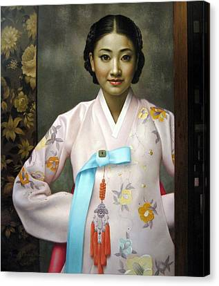 Korean Girls Canvas Print