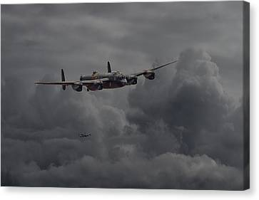 Lancaster - Heavy Weather Canvas Print by Pat Speirs