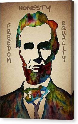 Leader Qualities Abraham Lincoln Canvas Print