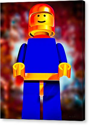 Lego Spaceman Canvas Print