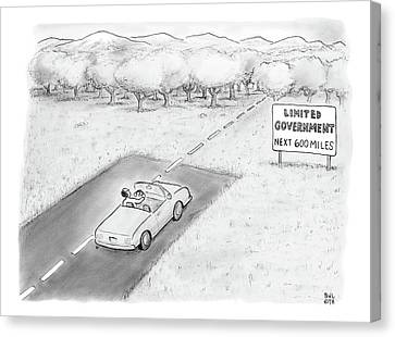 Road Sign Canvas Print -  Limited Government by Paul Noth