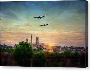Lincoln Lancaster Flyby Canvas Print
