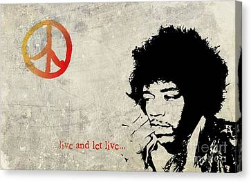 ... Live And Let Live ...  Canvas Print by Andrea Kollo