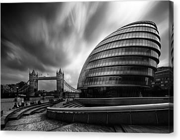 Cityhall Canvas Print -  London City Hall And Tower Bridge.  by Ian Hufton