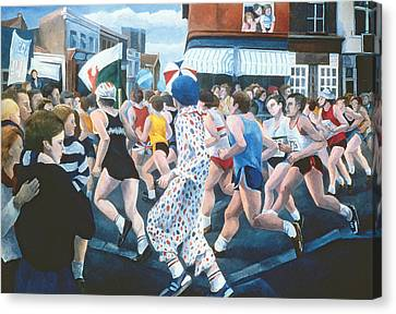 London Marathon Canvas Print by Cristiana Angelini