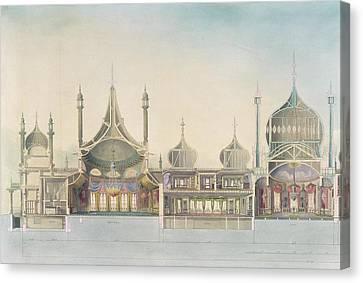 Longitudinal Section Organ Canvas Print by John Nash