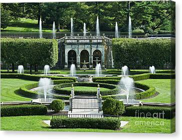 Longwood Gardens Fountains Canvas Print
