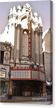 Los Angeles Theater Canvas Print by Gregory Dyer