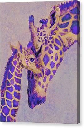Loving Purple Giraffes Canvas Print