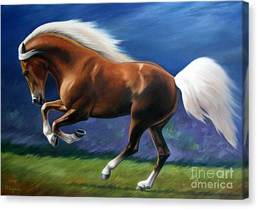 Magnificent Power And Motion Canvas Print by Vivien Rhyan