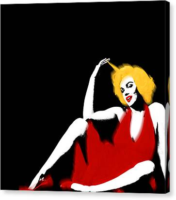Marilyn Monroe Strikes A Pose Canvas Print by Tony Rubino