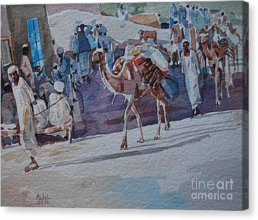 Market Canvas Print by Mohamed Fadul