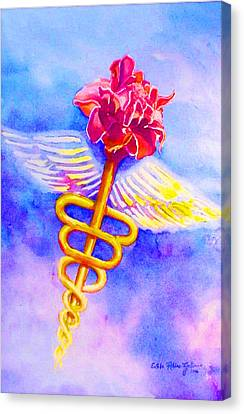 Medical Angel  Canvas Print by Estela Robles