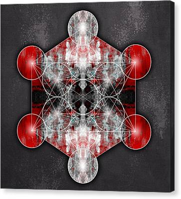 Metatron's Cube Red Canvas Print