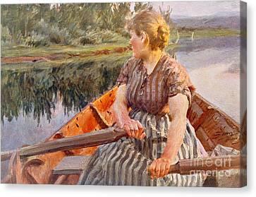 Backward Canvas Print -  Midsummer Night by Anders Leonard Zorn