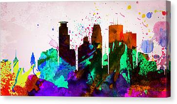 Minneapolis City Skyline Canvas Print